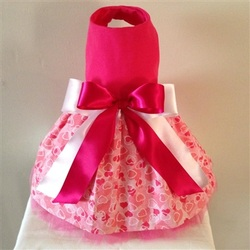 Hearts On Pink Glitter Valentine Dress II