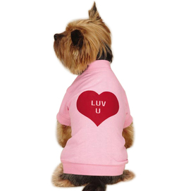 Luv U Big Dog Valentine Shirt