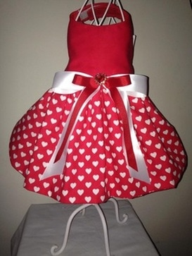 Hearts Valentine Big Dog Dress