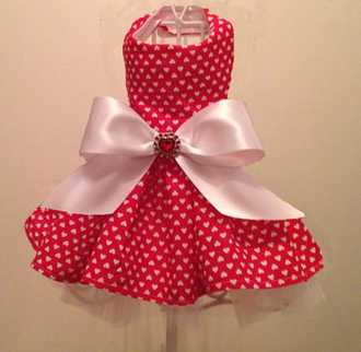 Valentine Hearts Big Dog Dress