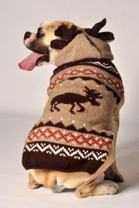 Moosey Hoodie Dog Sweater Costume