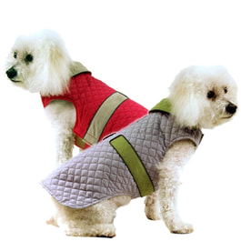 Reversible Quilted Big Dog Coat
