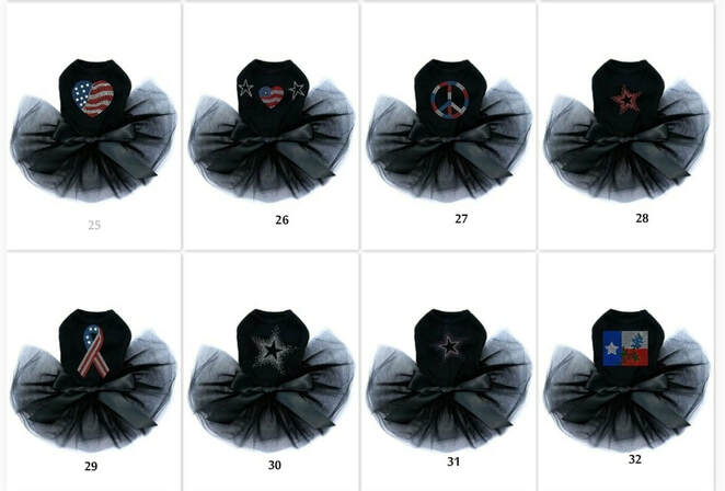 Patriotic Tutu Dresses For Dogs - Various Styles