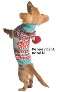 Peppermint Christmas Dog Sweater